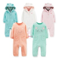 1pc Retail, Carters Romper, Carters Baby Girls Long Sleeve Jumpsuit, Freeshipping IN STOCK