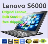 "Original lenovo s6000 lenovo tablet IdeaTab 10.1""IPS 1280x800 MTK 8389 quad core 1G ROM 16GB ROM Android 4.2 WCDMA free shipping"