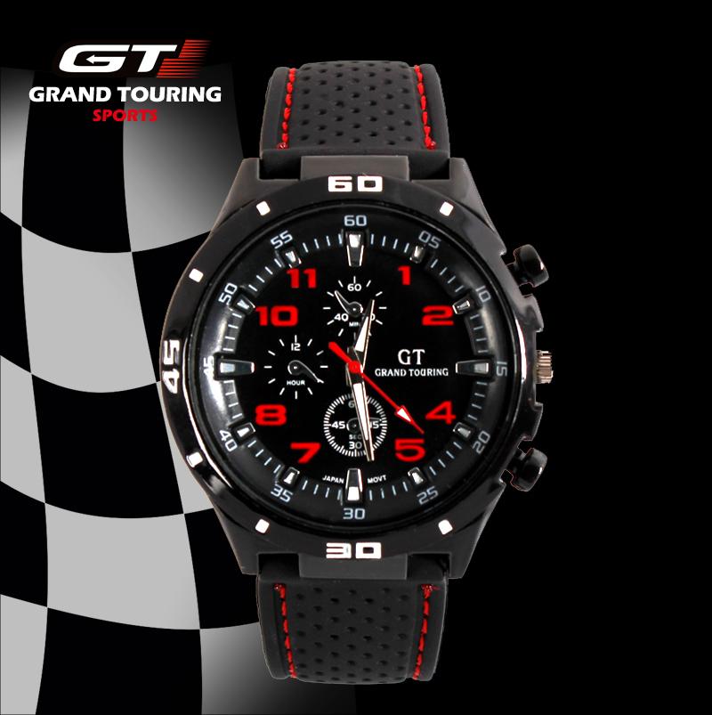 GT Watch 2014 F1 Men Sports Watch Luxury Brand Silicone Strap Fashion Quartz Movement Men Military Wristwatch Men's Watches(China (Mainland))