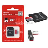Real capacity 64gb Memory Cards Micro SD card 128mb 2gb 4gb 8GB 16gb 32gb Micro SDHC Memory Card TF +SD adapter Reader