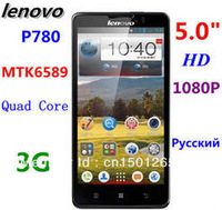 Original In stock Lenovo P780 Supports Russian MTK6589 1.2GHz Quad core Android4.2 4000mAh 1280X720 Smart phone Freeshipping
