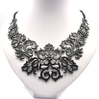 free shipping   hollow out Flower False Collar Choke Chain Neon Bib Statement Necklace For Women necklaces & pendants XL-153