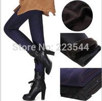 2014 Winter Seamless Warm Denim Jeans Pants for Women Thickness Black Blue Velvet Body Building Warm Trousers for Women 5XL