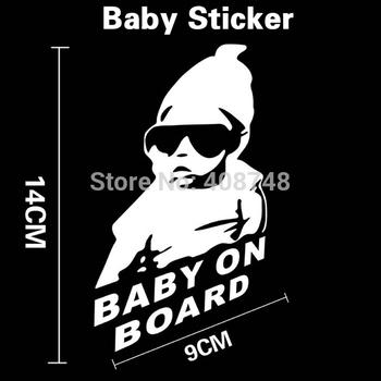 Car Cool Baby on Board Car Sticker Car Styling Motorcycle Sticker Vinyl Deca Reflective Personalized Waterproof Sticker