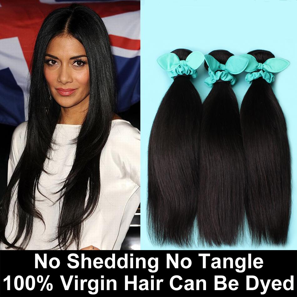 feixes de 6a cabelo virgem peruana 3pcs reta muito rainha cabelo produtos c