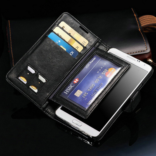 Luxury Vintage Wallet With Stand Leather Case For Samsung Galaxy Note 3 III N9000 Mobile Phone Bag Cover With Card Slot(China (Mainland))