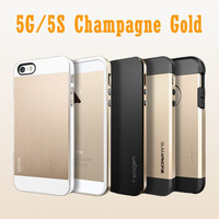 Sgp Spigen Case For iPhone 5 5S 5G Cover Champagne Gold Saturn Bumblebee Neo Hybrid EX Slim Tough Armor Hard Cover No Retail Box