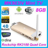 New Arrival !!! BoSuntop MK903 IV RK3188 Quad core Android4.2 2G/8G  WiFi,Bluetooth HDMI USB TF Card Smart TV  Mini PC Box