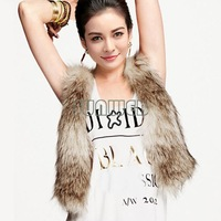 2014 new autumn and winter and the wind super Soft short Faux Fur Vest Slim Sleeveless women Fur Coat B16 18860