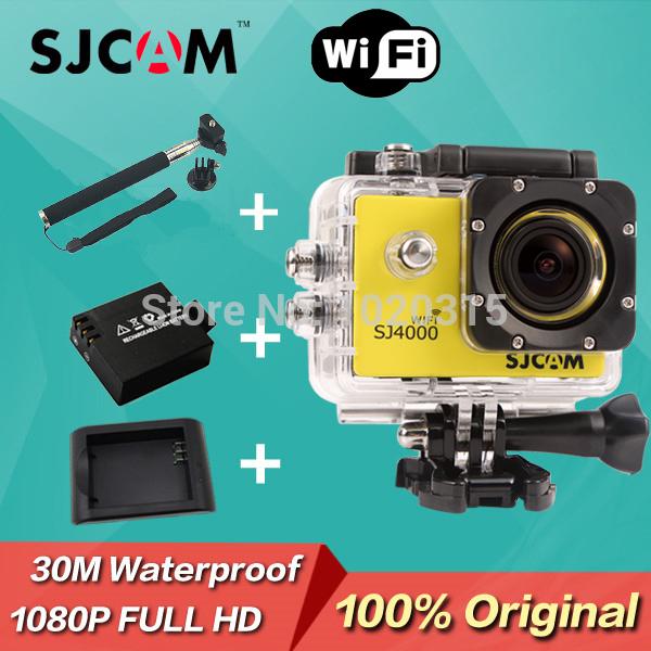 In Stock!Original WiFi Version SJ4000 Action Camera Diving 30M Waterproof Sport Camera 1080P Full HD Car DVRs Gopro Camera Style(China (Mainland))