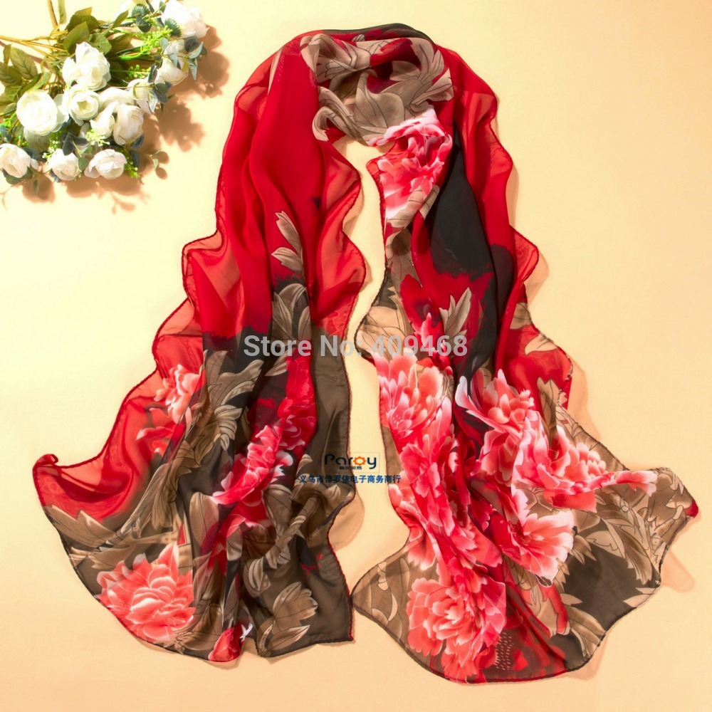 min order $5 summer pashmina women's scarf long shawl printed cape silk chiffon tippet muffler echarpes Scarves PG-009(China (Mainland))