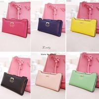 2014 new arrival leather women wallets woman purse bag women's design wallet change purse for women Drop shipping b9 SV001289