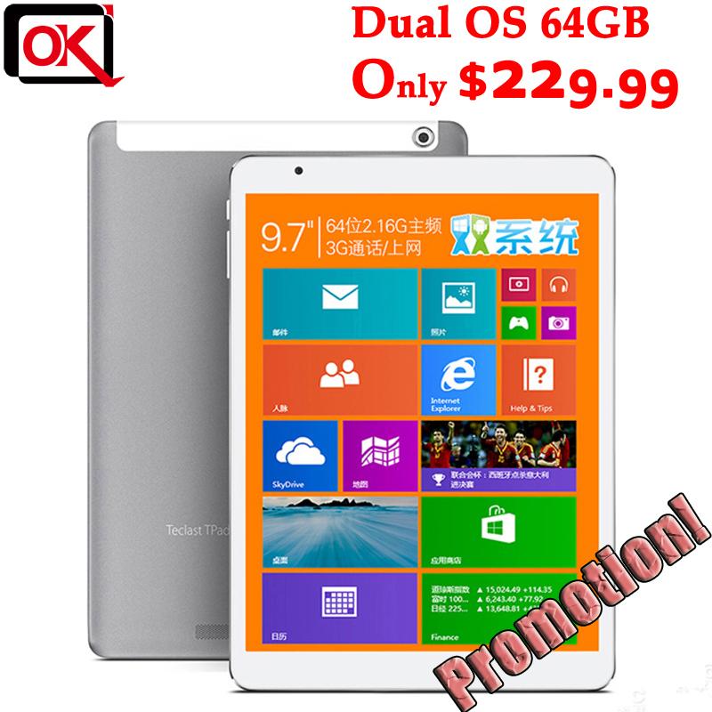 "9.7"" Teclast X98 Air 3G Dual Boot Intel Bay Trail-T Quad Core Tablet PC 64GB ROM 2GB RAM GPS 3G Phone Call IPS Screen(China (Mainland))"