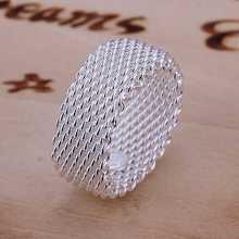 versandkostenfrei großhandel 925 sterling silber ring, modeschmuck, mesh-ring smtr040(China (Mainland))