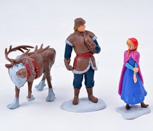Frozen Figure Toy Princess Elsa and Anna Queen Action Figure Doll 6PCS/SET Retail & Wholesale #6 SV005707(China (Mainland))