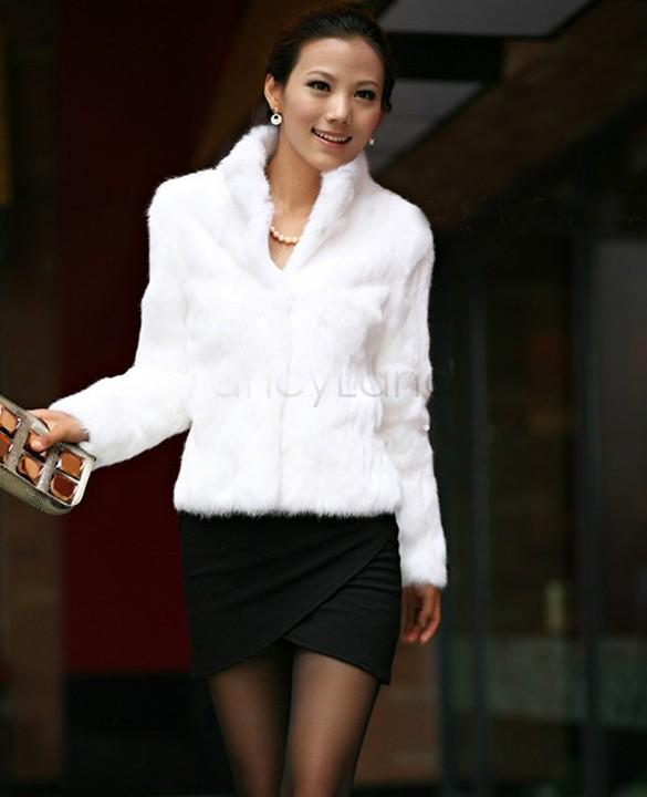 2014 New Fashion Women Rabbit Fur Coat Natural Rabbit fur Jacket Women Slim Fur Coat/Hot sale 31(China (Mainland))