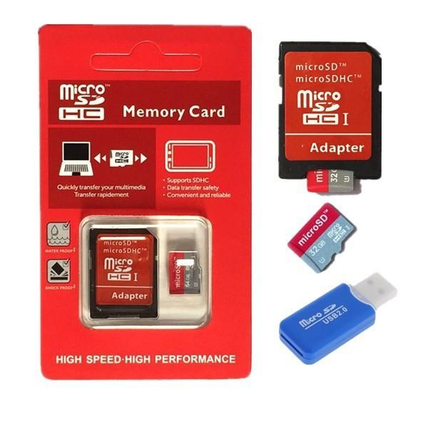 NEW Upgraded version micro sd memory card 128GB Micro SD card 64GB 16GB class10 +SD transfer adap