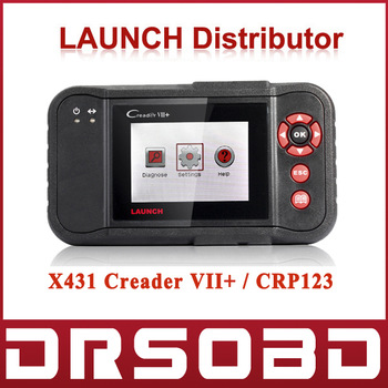 100% Original LaunchCreader VII+ Auto Code Reader the Same Function as Launch CRP123 OBD2 EOBD Scanner free online update