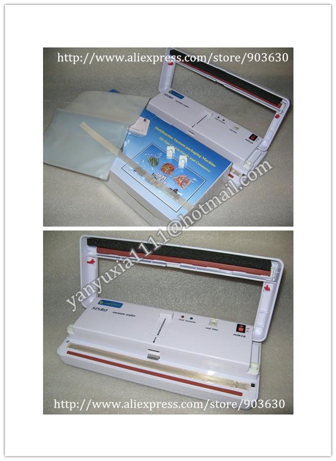 220V/110V SINBO Household Vacuum Sealer Machine DZ-280 ,Small Multi-Functional Manual Vacuum Packer Packing Machine(China (Mainland))