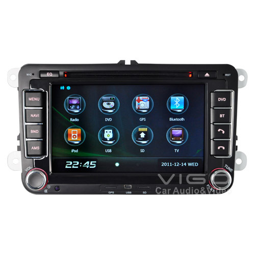 "7"" Car Stereo Autoradio Headunit GPS System for VOLKSWAGEN VW GOLF POLO PASSAT JETTA TOURAN EOS SHARAN TRANSPORTER (T5) CADDY(Hong Kong)"