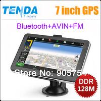 7 Inch Car GPS Navigator,Bluetooth,AV IN,FM,MTK,DDR128M,WINCE6.0,HD 800*480,4GB,free map ,Car GPS Navigator