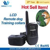 5PCS/LOT Free shipping Wholesale electric no bark dog collar & leashes for 1 dog -100LV Shock+Vibra+Lcd 300m range High quality