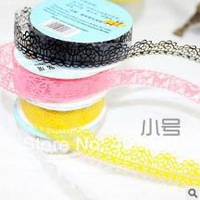 Free shipping hot sale  Waterproof Seamless Shredded Masking tape Lace  DIY tape S size 18mm*1m