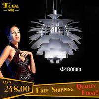 Free Shipping 480MM PH Artichoke Pendant Lamp Aluminum Chandelier Lights