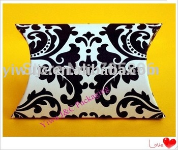 FREE SHIPPING--Damask Pillow Box,Wedding Favor Box, (JCO-A11)