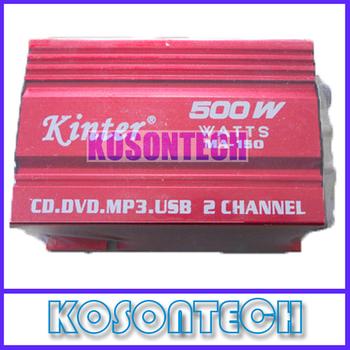 2pcs/lot Mini Speaker Digital Car Power Amplifier AMP 2 Channel 500W for MP3/MP4/CD Free Shipping KS2011