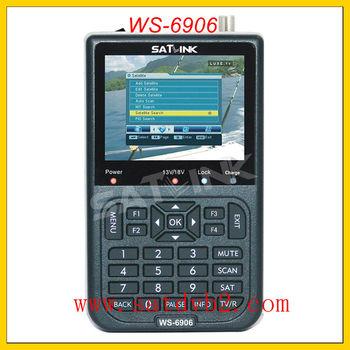 "2001 Satlink WS-6906 DVB-S 3.5"" LCD FTA Digital Satellite Finder Meter +TV Signal Receiver+Free shipping"