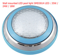 35W RGB LED pool light ,single color selected,SMD3014 higher lumen stainless casing,AC12V,4pcs/lot ,DHL/Fedex  free