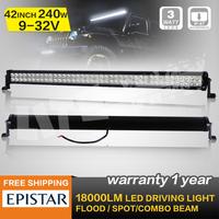 42 INCH 240W LED WORK LIGHT BAR COMBO BEAM LED DRIVING LIGHT FOR OFFROAD ATV 4x4 TRUCK SECKILL120W/180W