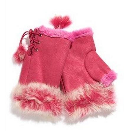 2014 New Arrival Women Rabbit Fur Hand Wrist Fingerless Gloves Warm Winter Keyboard PSM010(China (Mainland))