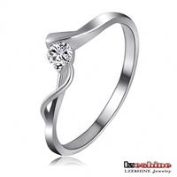 LZESHINE Brand Wedding Ring New Bijoux Austrian Crystal SWA Element Ring Platinum Plate Engagement Ring FreeShipping Ri-HQ1093-B