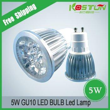 Factory price AC85-265V 5W GU10  Spotlight Flashlight LED BULB LED Lamp LED FREE SHIPPING