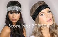 SALE Fashion Elastic Sequins Hair Band Women's Paillette Headband/Hair Accessories original factory supply