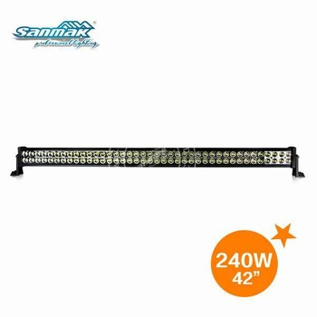 42'' 240W Alumimum Housing LED Off Road LED Light Bar 12/24V DC For Truck, 4x4,Racing  Vehicles,CE approved(SM6021-240)