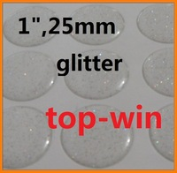 "1000pcs 1"" epoxy adhesive circle stickers glitter Self Adhesive Sticke 3D effect free shipping"