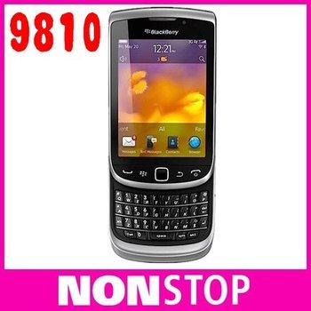 9810 Original BlackBerry Torch 9810 GPS WIFI 5MP JAVA QWERTY Keyboard Unlocked Mobile Phone Free Shipping One Year Warranty