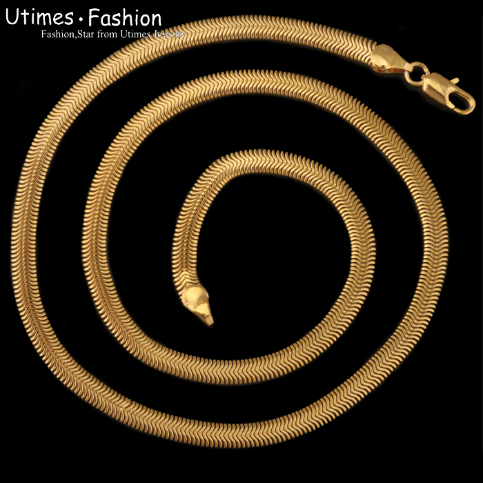 ( 460*7mm) moda breve hip-hop collana di gioielli da men18k placcato in oro