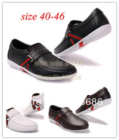Fashion !! 3 colors Brand Men's Casual leather shoes mens leisure sneakers on sale size eur 40-46 free shipping