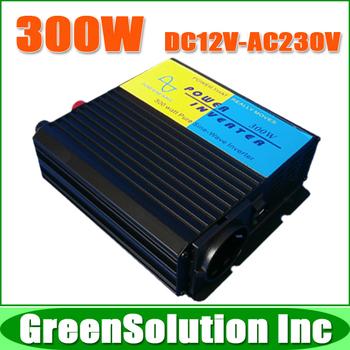 Free Shipping, DC 12V to AC 230V 240V 300W Pure Sine Wave Inverter with 5V USB Charger, Off Grid Solar Wind Inverter
