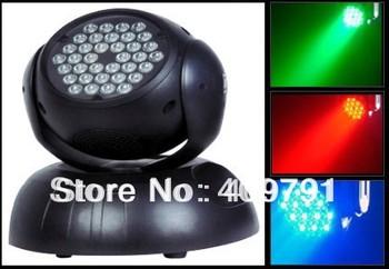Free Shipping 36*3W RGB LED Moving Head Light,LED moving head Wash light DMX512 Stage Light for Disco Party KTV Bar Club Pub DJ