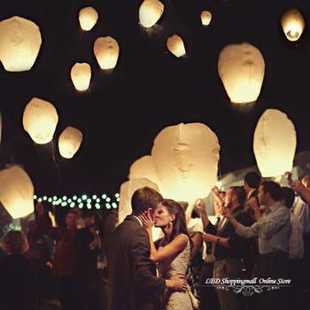 25pcs/lot Party SKY Balloon Kongming wishing Lanterns Flying Light Halloween Lights,Chinese kongming lanterns Free shipping