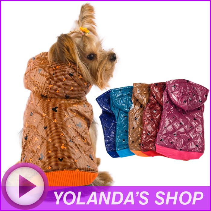 Free Shipping! WAGETON fashion dog clothes Hot sale! Wholesale and Retail designer pet clothing -5 colors(China (Mainland))
