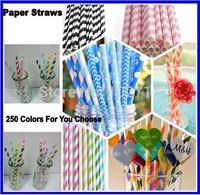 Wholesale Paper Straws 10000pcs/lot & Set of 25pcs & Mixed 280 Color Biodegradable Paper Drinking Straws (400 Packs/10,000 Pcs)