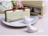 Love bird salt and pepper Shaker 100SET/LOT wedding favors gifts 2PCS/SET Free shipping
