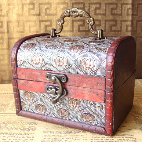 2013 New handmade wood vintage box for jewelry fashion vintage wedding favors wholesale and retail(China (Mainland))