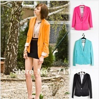 Free Shipping 2013 Women's Outwear Spring Fashion Candy Colors Suits Blazers And Jackets